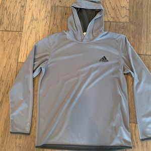 Men's ADIDAS Hooded Grey Pullover - Size L